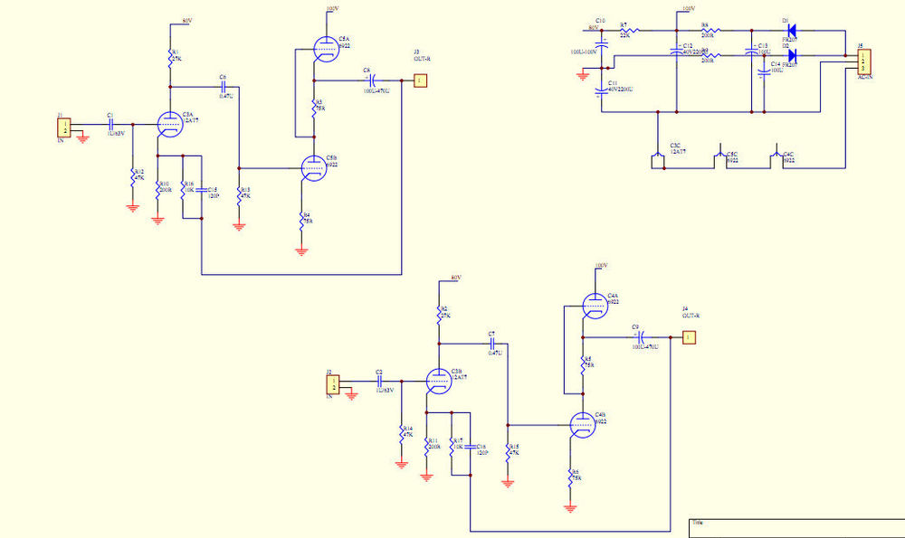 GZLOZONE TU1-EMP V2 Tube Headphone Amplifier Kit 2X 6922 + 1X 12AT7