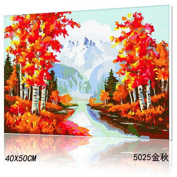 2015 HOT on sale pinturas al oleo DIY canvas oil unframed digital canvas painting wall art free shipping t5025(China (Mainland))