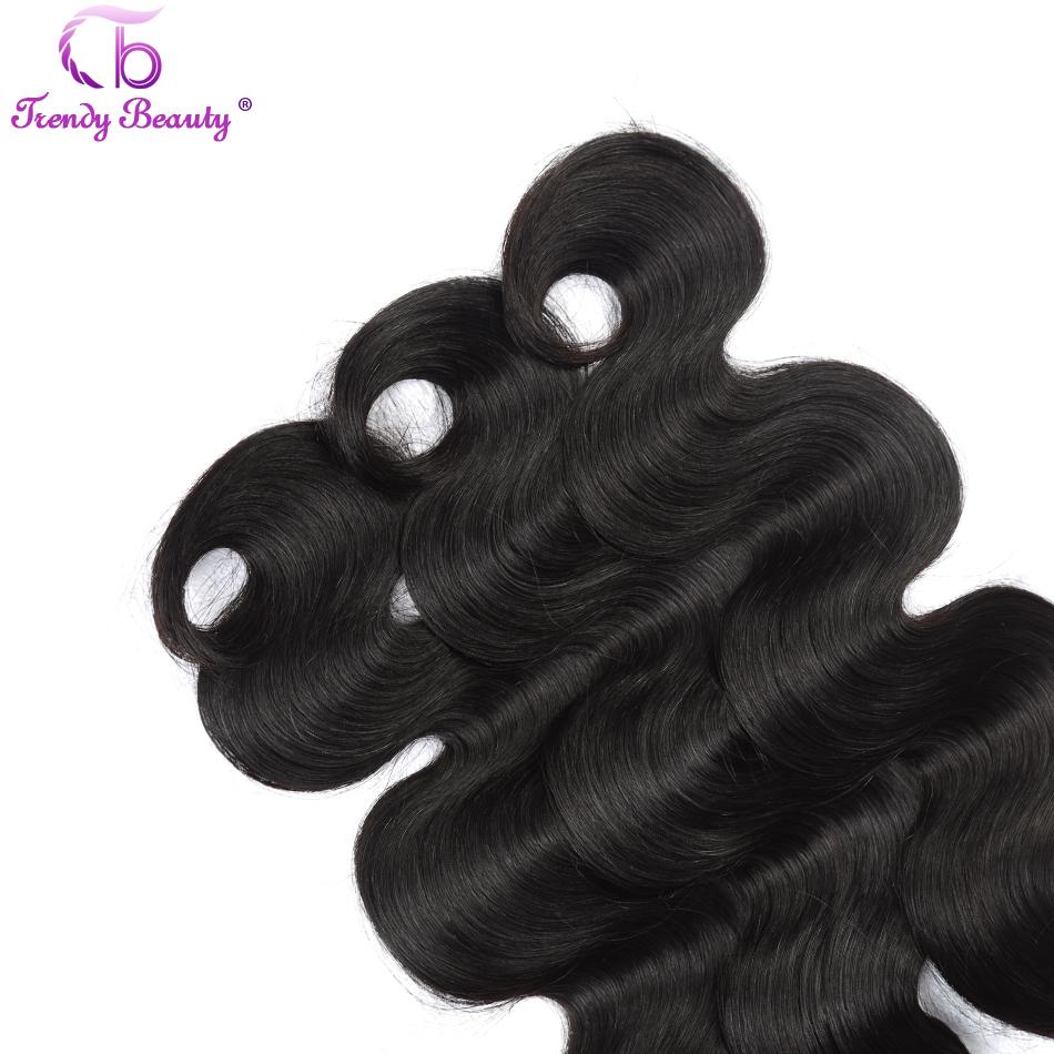 Trendy Beauty Hair Unprocessed Brazilian Virgin Hair Body Wave Human Hair Weave Bundle 8-26 inch natural black Free Shipping