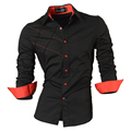 2016 casual shirts dress male mens clothing long sleeve social slim fit brand boutique cotton western