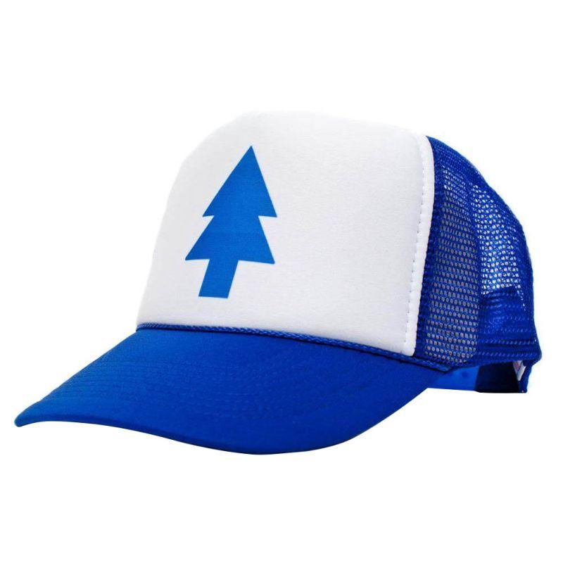 Unisex Women Men Curved Bill BLUE PINE TREE Dipper Gravity Falls Cartoon Mesh Hat Cap Trucker Baseball hat(China (Mainland))