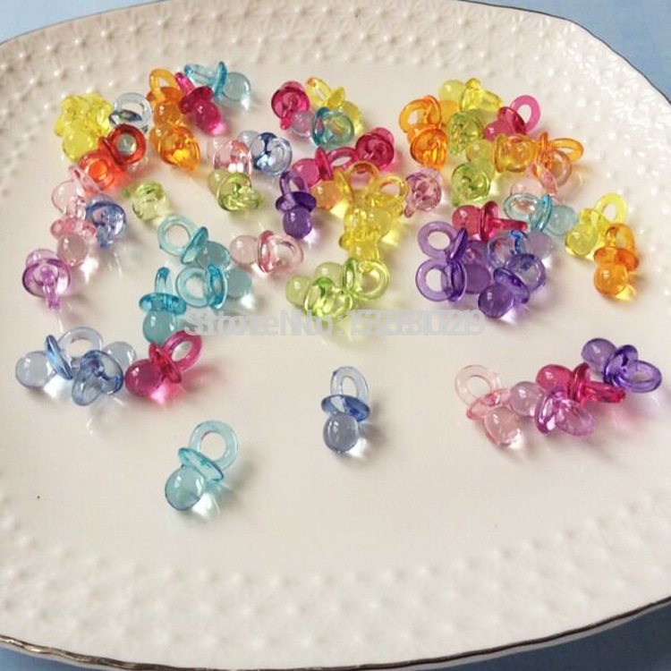 wholesale 500pcs clear acrylic mini pacifiers diy pacifier baby shower