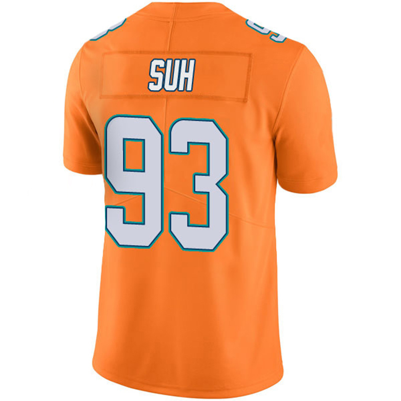 93 Ndamukong Suh 17 Ryan Tannehill Jersey Men's embroidery Adult 14 Jarvis Landry Orange Color Rush Limited Jersey Free Shipping(China (Mainland))
