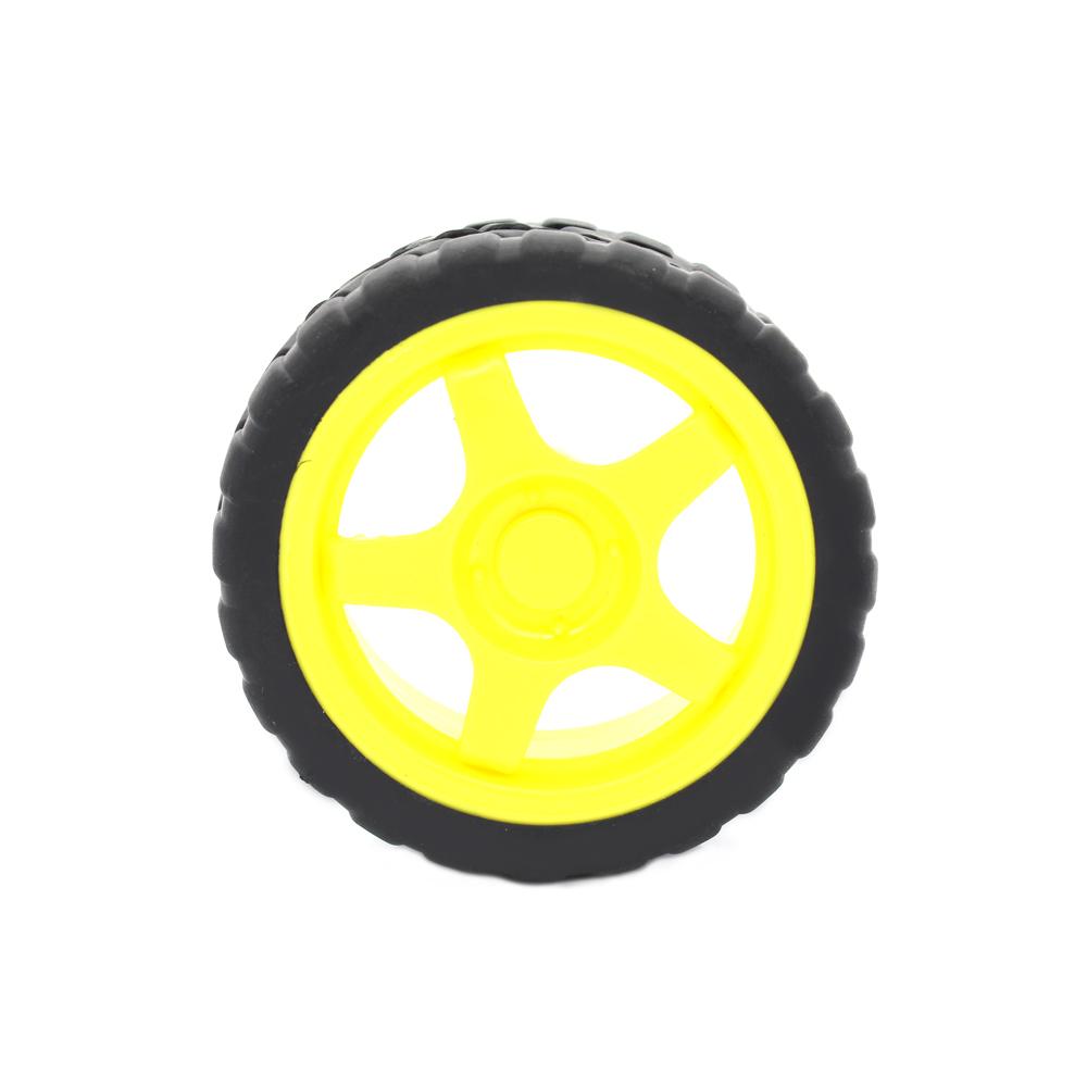 10Pcs/Lot 66MM 1:48 Small Smart Car Model Plastic Robot Tire Wheel Free Shipping Dropshipping(China (Mainland))