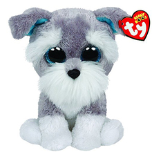 Ty Beanie Boos Whiskers The Grey Schnauzer Dog 6inch Big Eyes Beanie Baby Plush Stuffed Doll Toy Collectible Soft Plush Toys(China (Mainland))