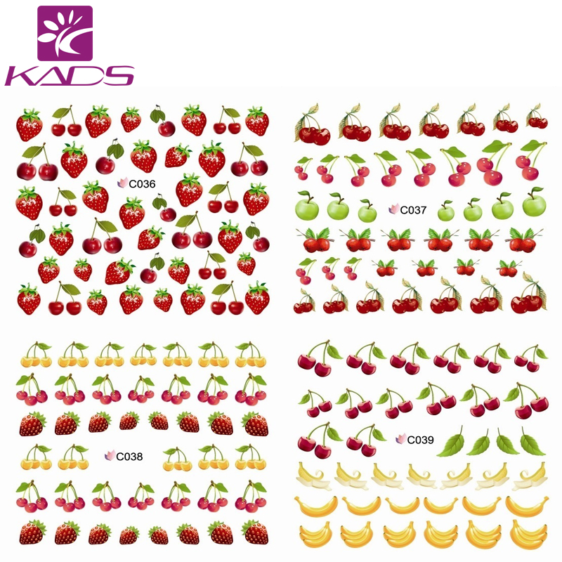 C036-047 Summer fruit purple & banana water transfer nail sticker on finger nails stickers for women nail sticker decal nail art(China (Mainland))