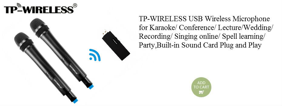 TP-WIRELESS UHF WTAG05 Tour Guide System Ear Hook Receiver for Translation, Conference 2 Transmitter N Receivers 2 Microphone