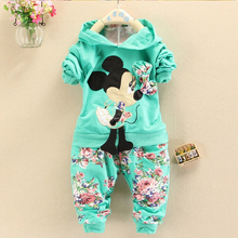 2015 new fashion Spring Autumn baby girls Sport suit set long sleeve children hoodies pants clothes