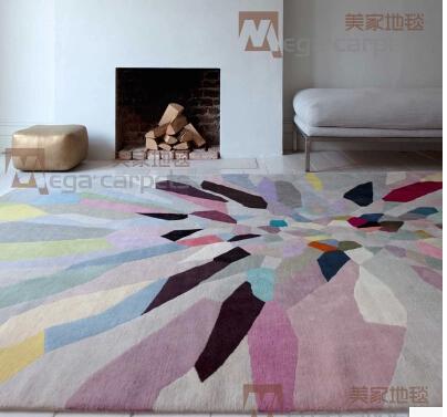 Luxe 100 % wol met de hand gemaakt tapijt voor woonkamer slaapkamer ...
