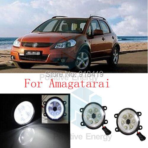 Фотография dedicated car Fog Light Band angel eyes 2PCS 18W High Power LED front fog lights car styling parking For 2008-2013 Amagatarai
