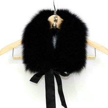 Freeshipping Manufacturers selling ribbon fox collars coat collar(China (Mainland))