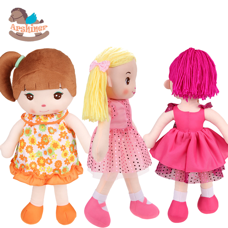 Arshiner Cute Kids Girls Plush Dolls Creative Gift Soft Plush Toys(China (Mainland))