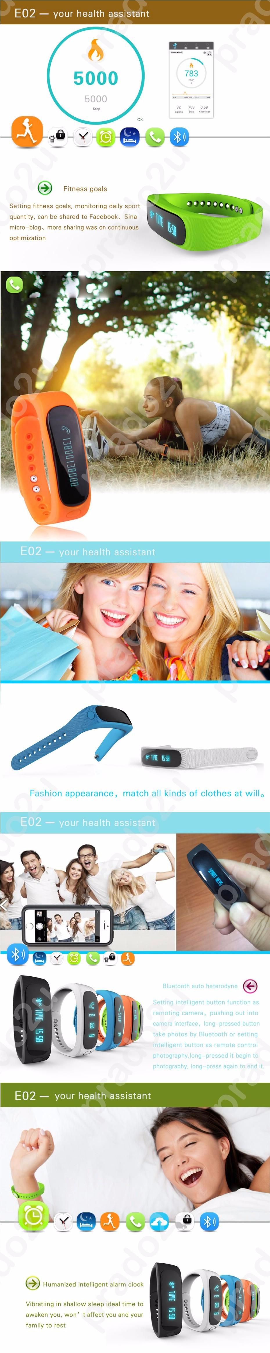 Smart Bracelet Sport Bluetooth Watch Self Photo Tracker Healthy Wristband Pedometer Sleep Monitor IOS Android IP67 Waterproof