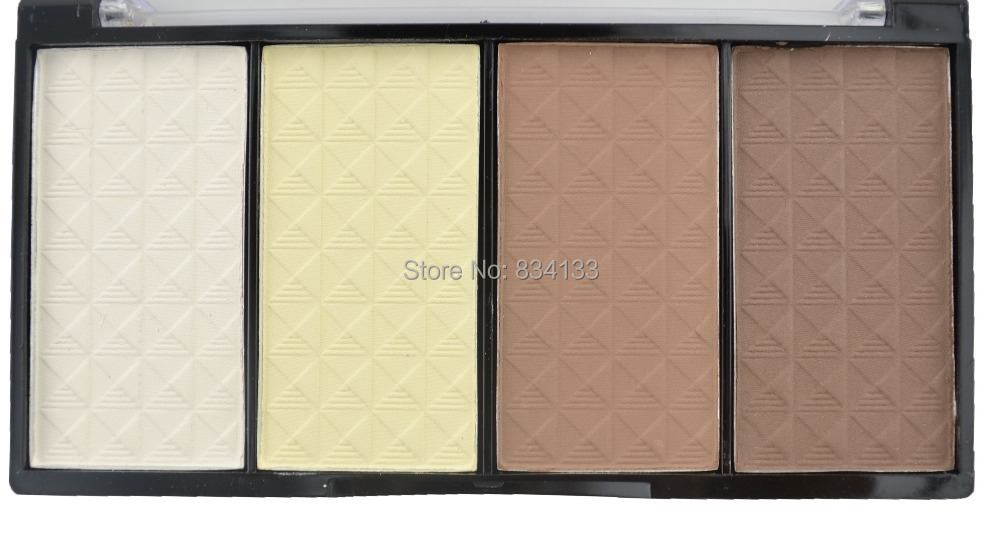 "Professional 4 Color Bronzer&Highlighter Cosmetics Face Makeup Beauty Powder Eyeshadow  -  ""Beauty shop store"