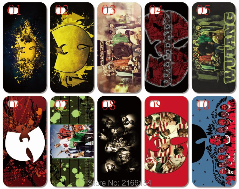 Wholesale lot wu tang Logo plastic Hard Cell Phone Cover iphone 4S 5 5S SE 5C 6 6S 7 Plus iPod Touch 4 5 6 Mobile Case