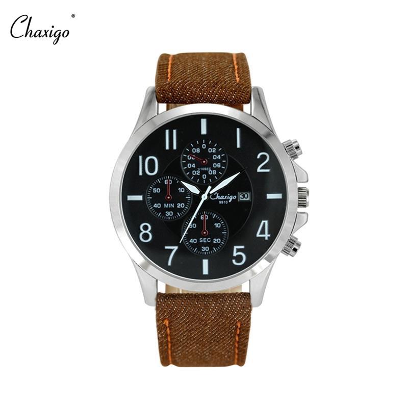 chaxigo brand black brown quartz wrist watches