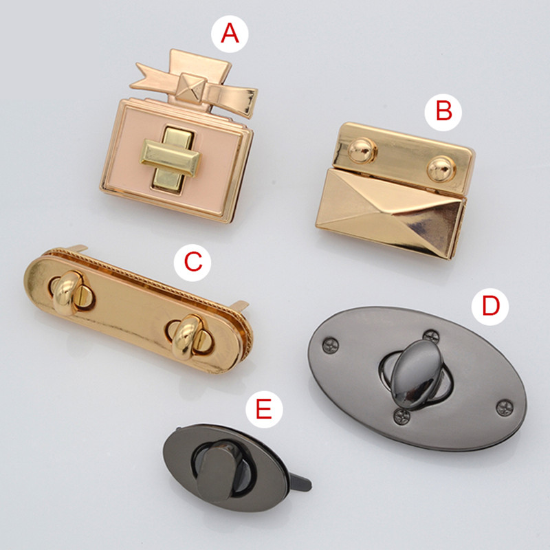 Bags accessories lockbutton hardware lock women's handbag covered button bags screw lock quality lockbutton diy lockbutton(China (Mainland))