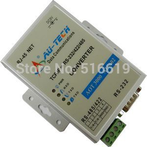 Free shipping 485 to TCP IP AU-TECH TCP/IP to RS232/485/422 Serial server(China (Mainland))