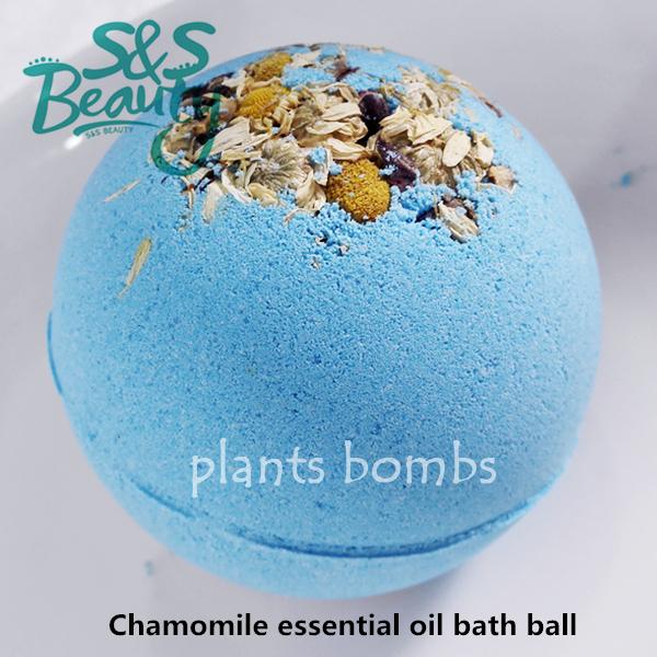 Bath bombs :Chamomile essential oil bubble bath ball salt SPA beauty body skin care romantic Honeymoon handmade S439(China (Mainland))