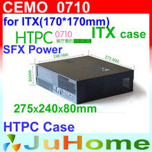 Buy Cheapest HTPC case, Mini-ITX, 275*240*80mm, 1U power supply, 0.8mm Steel, case family multimedia computer, CEMO 0710 for $18.43 in AliExpress store