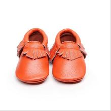 1000 pairs/lot Genuine Leather  Baby moccasins soft sole genuine leather prewalker booties toddlers fringe cow leather shoes (China (Mainland))