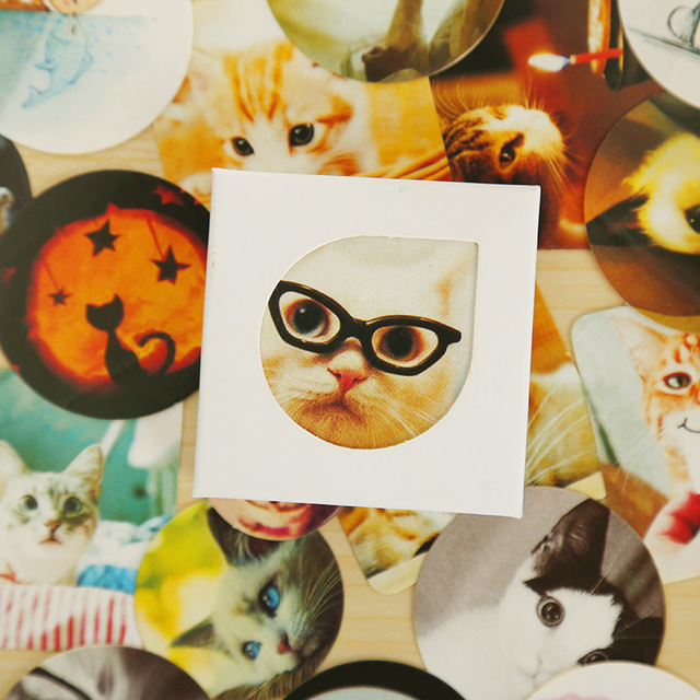 38 шт./кор. кошка мини наклейки украшения этикеты DIY дневник скрапбукинг ablum уплотнения наклейка каваи канцелярские