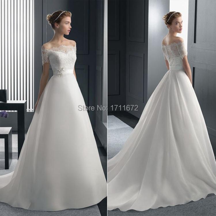 Халат де Mariage Casamento элегантное платье без спинки невесты цвета слоновой кости линия с коротким рукавом кружева свадебное платье Vestido Novia Большой размер