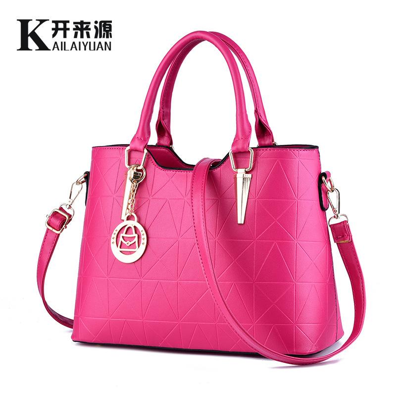 100% Genuine leather Women handbags 2016 new female sweet bag bag ladies temperament fashion handbag Crossbody Shoulder Handbag(China (Mainland))