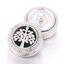 Nowy aromaterapia zatrzaski perfumy medalion magnetyczny dyfuzor olejków eterycznych ze stali nierdzewnej 18mm przystawki przycisk bransoletka biżuteria(China)