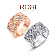 ROXI Fashion Ring,Unisex  rose gold plated, women/men trendy  jewelry ,wedding/Chrismas gift, Austrian crystal ,2010016315