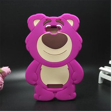 3D cases purple strawberry bear silicone phone cover case Alcatel One Touch POP C7 OT 7041D - Consumer Electronics Accessories Store store