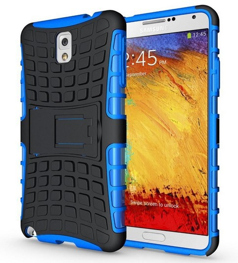 Armor Heavy Duty Hard Cover Case For Samsung Galaxy Note 3 Silicone Protective Skin Double Color N9000 N9005 ShockProof(China (Mainland))