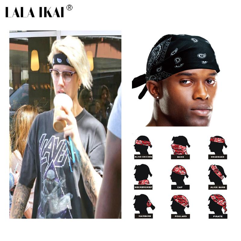 Justin Bieber Bandana Headwear Hair Band Scarf Neck Wrist Wrap Band Mens Hip Hop Outdoor Headband ZMM0070-4.9(China (Mainland))
