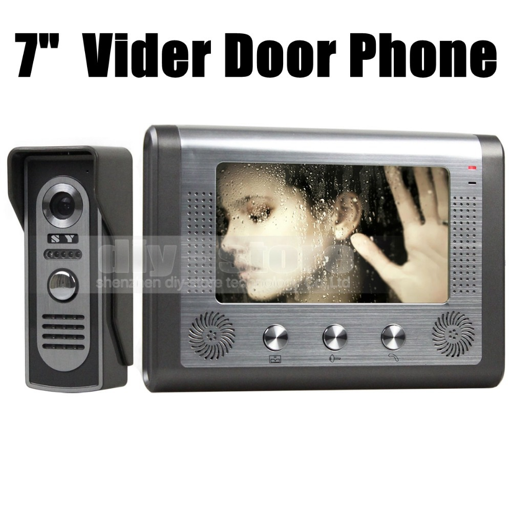 2015 7 inch Wired Video Door Phone Door Bell System Kit Home Security Entry 2 Way Intercom IR Camera(China (Mainland))