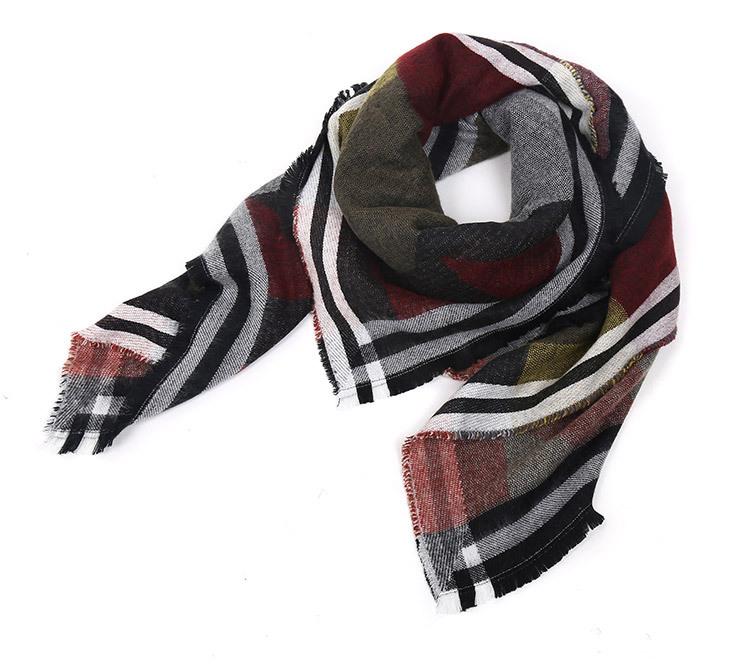 ZA scarf Winter 2014 warm woman's scarf fashion geometirc thick blanket coat christmas gift best buy(China (Mainland))
