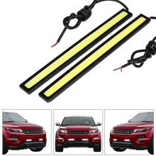 1Pcs Car styling Ultra Bright 12W LED Daytime Running lights DC 12V 17cm 100% Waterproof Auto Car DRL COB Driving Fog lamp(China (Mainland))