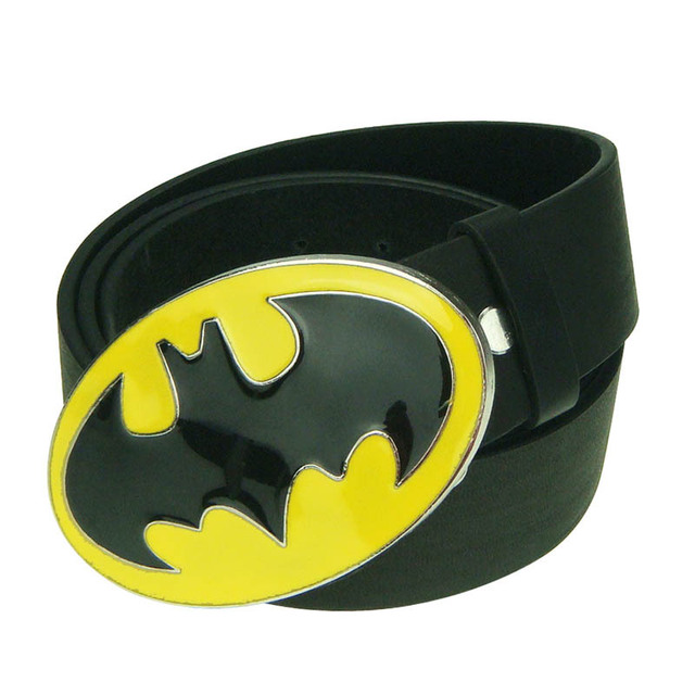 Classic Film Hero Batman Motorcycle Man Cowboy Men Enamel Leather Belt buckle