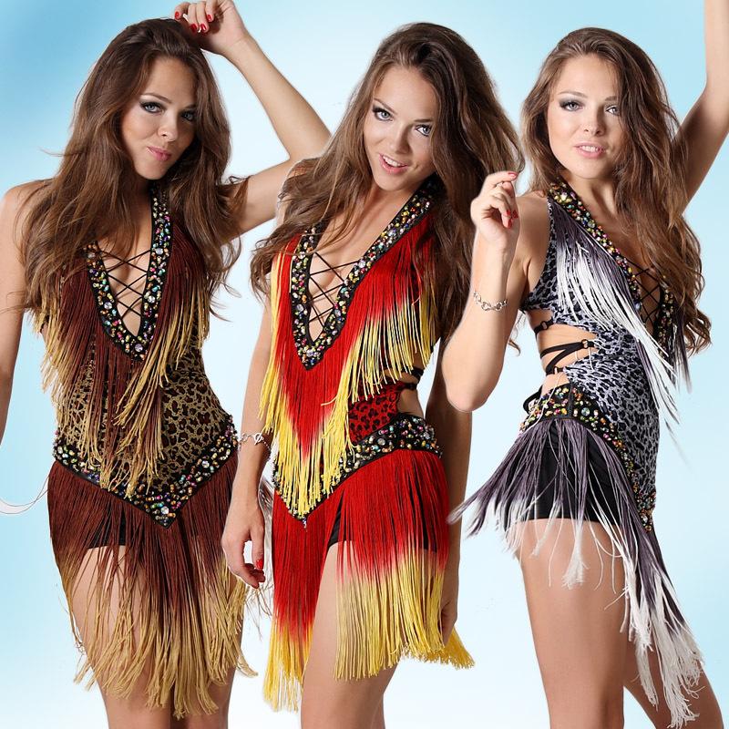 2017 Sexy Cheap Latin Dance Dress Women Professional Latin Skirt Samba Dance Latin Salsa Dresses
