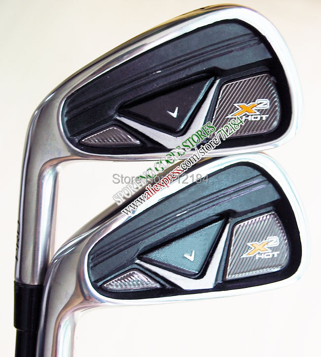 hot Sell New Golf Clubs X2 hot Golf Irons Set 3-9 P S A(9pc)graphite shaft Left irons Club Free Shipping(China (Mainland))
