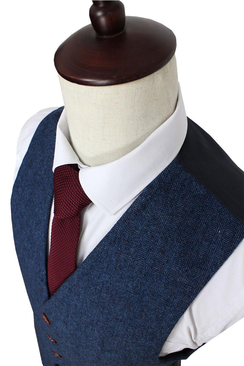 Wool Blue Herringbone Retro gentleman style custom made Men s suits tailor suit Blazer suits for