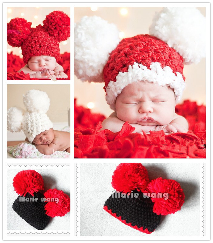 2015 fashion Baby Hat Crochet Pattern Newborn Toddler Beanie Knitted christmas Cap Photography Props - Home&Love store