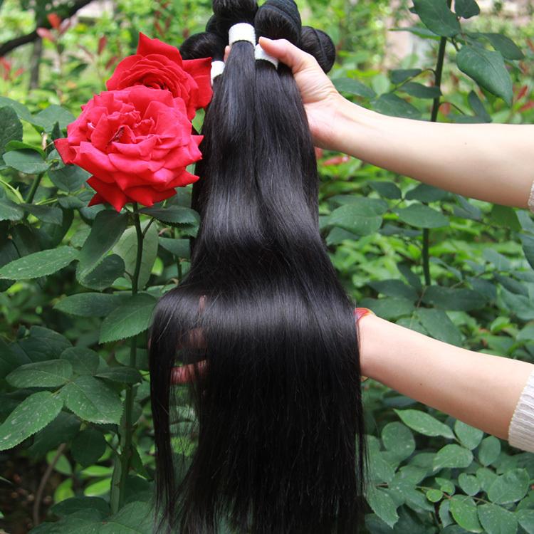 6A hot sale Rosa hair products cheap Brazilian virgin hair Straight 4pcs unprocessed hair extension free shipping aliexpress uk(China (Mainland))