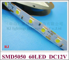 non-waterproof IP20 SMD 5050 LED strip light flexible strip soft strip DC12V SMD5050 60 led 14.4W IP20 CE free shipping(China (Mainland))