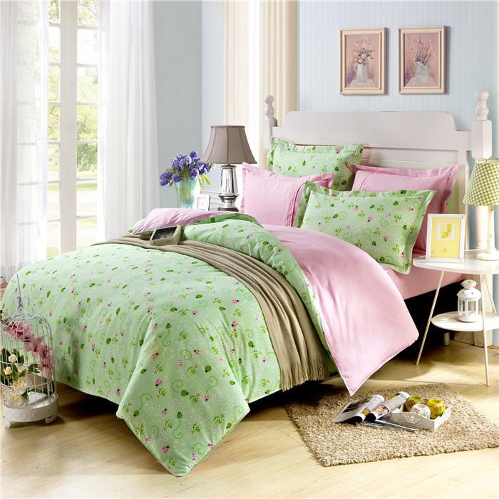 2015 high quality linen duvet cover queen 3d quilt green floral duvet covers cotton bed sheets. Black Bedroom Furniture Sets. Home Design Ideas
