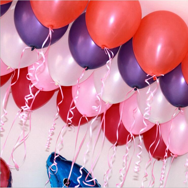 10inch1.2g Latex balloon Helium Pearl balloons Wedding Party Birthday ...