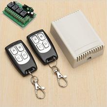 Dc 12 V 4CH 200 M remoto inalámbrico interruptor de relé de Control 2 Transceiver + receptor placa de circuito de relé interruptor de encendido remoto interruptor remoto