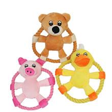 """1 חתיכה Gomaomi 16 ס""""מ דפוס בעלי החיים טבעת חבל דיסקים מעופפים פריסבי חיות מחמד כלב צעצוע(China (Mainland))"""