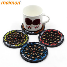 40pcs/10packs Vintage Dart Board Drinks Cup Table Coasters Kits Plastic Coffee Cup Mat Pad Set Kitchen Bar Tableware Wholesale(China (Mainland))