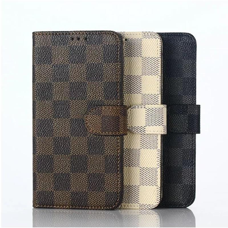 Hot Sale For Sony X Elegant font b Tartan b font Design Wallet Card Holder Stand