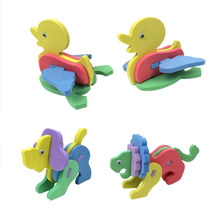 Creative DIY Handmade EVA Foam 3D Intelligence Development Animal Puzzle Jigsaw Toys For Children 1PCS Random Styles (China (Mainland))